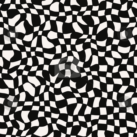 Optical illusion pattern stock photo, Seamless texture of swirling black and white blocks by Wino Evertz