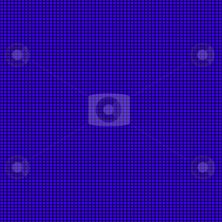 Blue squares pattern stock photo, Seamless texture of many small regular blue blocks by Wino Evertz