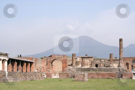 Pompeii overlooked by Vesuvius stock photo,  by Helen Shorey