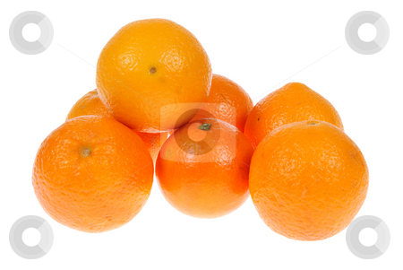 Orange stock photo, Few of oranges isolated on white background by Jolanta Dabrowska