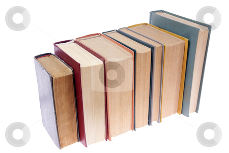 Books stock photo, Old books isolated on white background by Jolanta Dabrowska