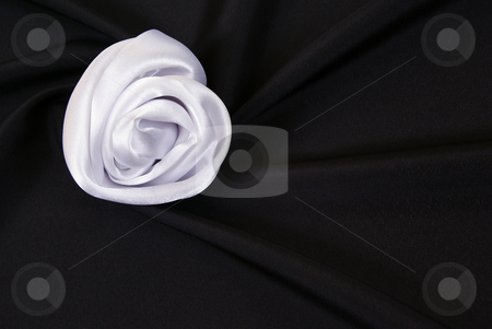 Black background stock photo, Arranged  black and silky cloth as background by Jolanta Dabrowska
