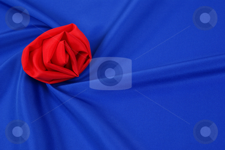 Blue background stock photo, Arranged  blue and silky cloth as background by Jolanta Dabrowska
