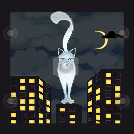 Cats stock photo, Illustration by Natacha Audier