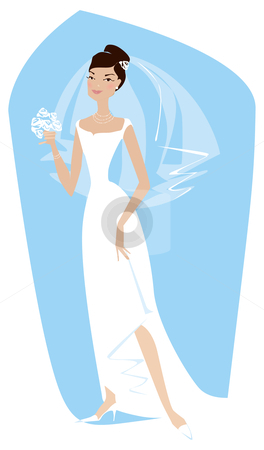 Bride stock vector clipart, Bride is ready by Vanda Grigorovic