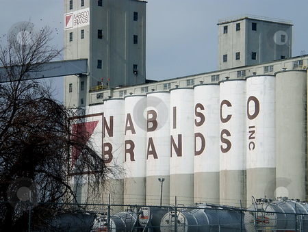 The Nabisco Silo stock photo, Nabisco Silo on the east bank of the Maumee River in Toldeo Ohio by Dazz Lee Photography