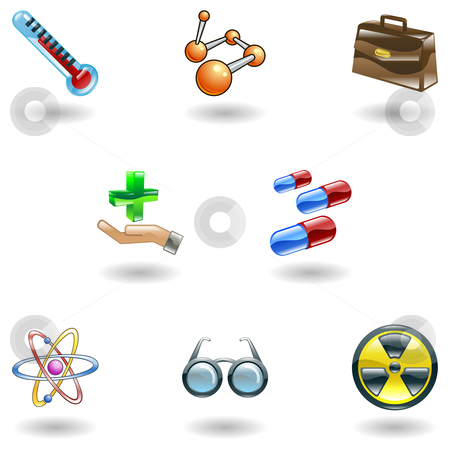 Shiny Medical Icons stock vector clipart, A set of shiny glossy medical icons by Christos Georghiou