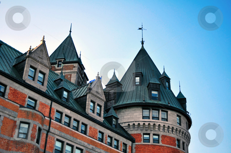 Chateau Frontenac stock photo, Photo of the Quebec City most famous landmark by Fernando Barozza