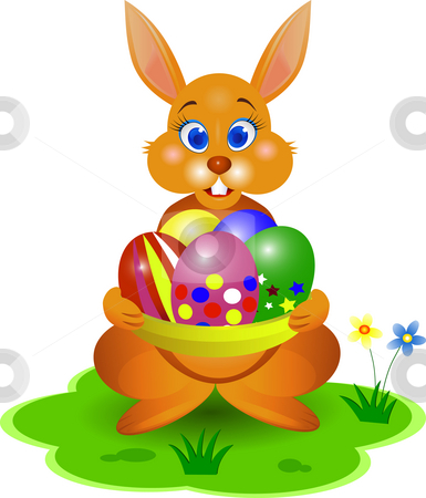 Easter bunny stock photo, Ester bunny illustration by Surya Zaidan