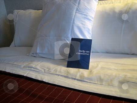 Pillows stock photo, Pillows in hotel room by Albert Lozano