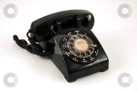 Telephone stock photo, Pictures of an older, analog type telephone by Albert Lozano