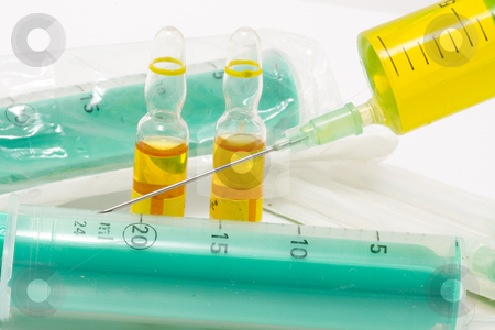 Vaccinations stock photo, You will need all these things for vaccinations by Petr Koudelka
