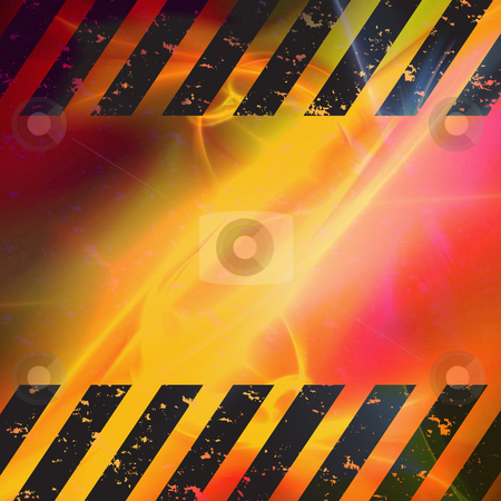 Grunge Hazard Stripes stock photo, A hazard stripes texture with extreme grunge effects. by Todd Arena