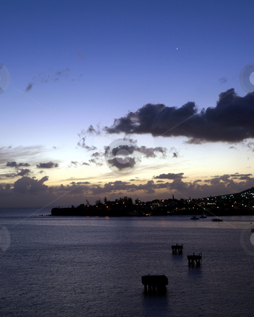 Venus in the night sky over St. Kitts stock photo, View of Venus in the night sky over St. Kitts by Jill Reid