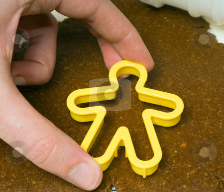 Cookie Cutter stock photo, Closeup view of a gingerbread man cookie cutter by Richard Nelson