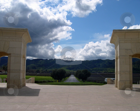 View from Opus One winery stock photo, View from Opus One winery in Napa California by Jaime Pharr