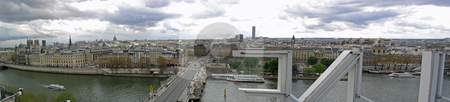 Panoramic view of Paris stock photo, Panoramic view of Paris from La Samaritaine by Jaime Pharr