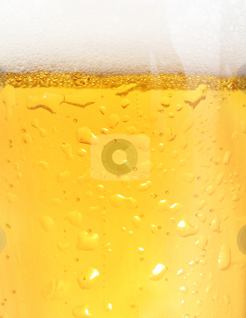 Closeup of beer stock photo, Close up of backlit glass of beer by iodrakon