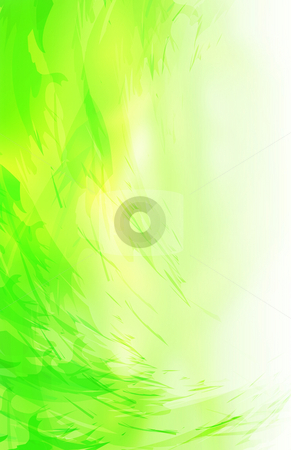 Abstract green background stock photo, Abstract green background, detailed simulated brush strokes by iodrakon