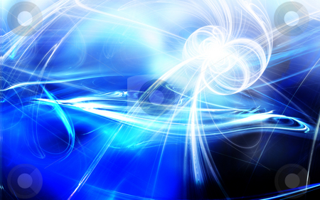 Blue Abstract stock photo, Computer generated render blue Abstract - very vivid colors by iodrakon