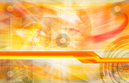 Orange Abstract stock photo, Futuristic Orange computer generated abstract design by iodrakon