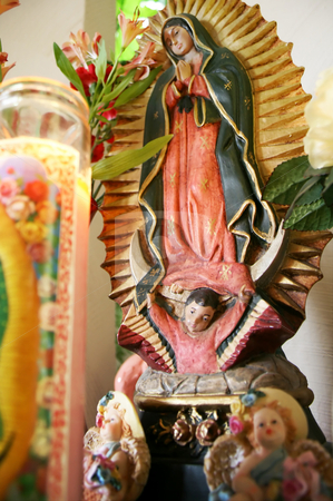 Our lady of Guadalupe Shrine  stock photo, Our Lady of Guadalupe is a celebrated 16th-century icon of the Virgin Mary, mother of Jesus Christ. It is perhaps Mexico's most popular religious and cultural image. by iodrakon
