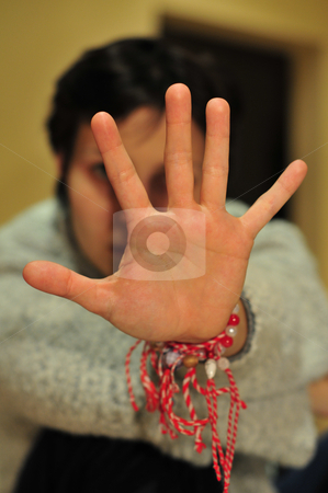 Sign language stock photo, Hand gesture performed