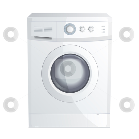 Washing machine stock vector clipart, Vector illustration of a realistic washing machine by Laurent Renault