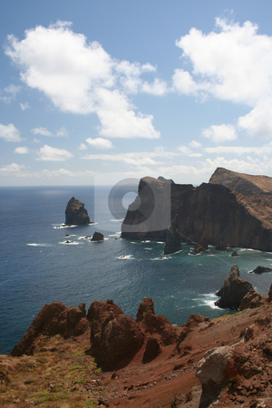 Ponto de Castelo stock photo, Heading towards the eastern end of Madeira, there is a miradouro (lookout) point which shows the wild and rugged coastline. by Helen Shorey