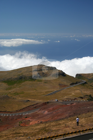 Top of The World stock photo, View from the top of the Paul de Serras plateau on Madeira, looking out over the Atlantic Ocean by Helen Shorey