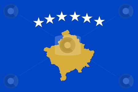 Flag Of Kosovo stock photo, Very large version of the flag of Kosovo by Tudor Antonel adrian