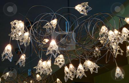 Contemporary indoor lighting fixture stock photo, Multiple bulb contemporary indoor lighting fixture by Jill Reid