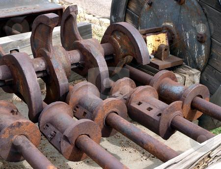Antique Mechanical Equipment stock photo, Vintage and antique rusted mechanical equipment by Jill Reid