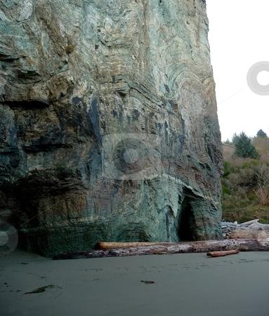 Rainbow Rock formation in Oregon stock photo, View of Rainbow Rock formation and cliffs in Oregon by Jill Reid