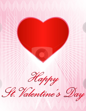 Classic Valentine's Day Card stock vector clipart, Vector Valentine's Day Design - In vector format all elements placed independently, can be reused by iodrakon