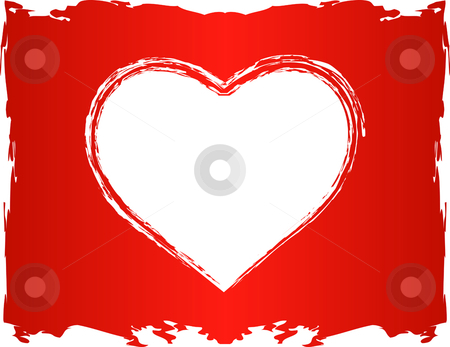 Vector Love Heart stock vector clipart, Vector Love Heart shape, white heart area is transparent so it can be overlayed over any color or background by iodrakon