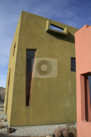 Art Deco house in Joshua Tree stock photo,  by Didier Tais