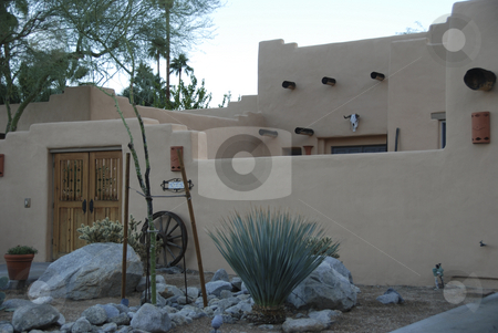Modern house In Palm Springs stock photo,  by Didier Tais