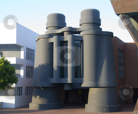 Frank Gehry's Binocular Building in Venice, California stock photo,  by Didier Tais