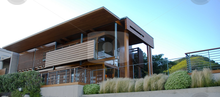 Modern house In Malibu stock photo,  by Didier Tais