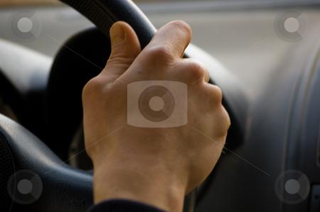Driving hand stock photo,  by Piero Biondo