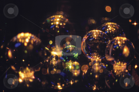 Gazing Balls stock photo, Glass Balls by Miguel Dominguez