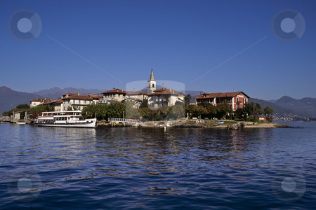 Isola dei Pescatori on Lake Maggiore stock photo, Isola dei Pescatori, Lake Maggiore, Italy by GB Tittle