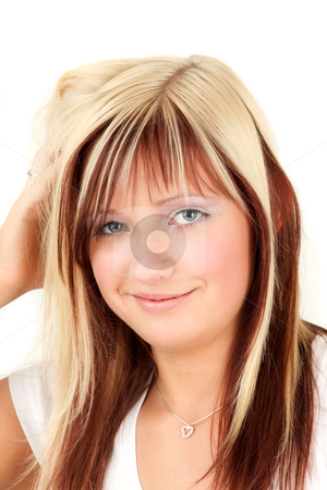 Maybe stock photo, Nineteen years old  blonde teenagers doubts by Tom P.