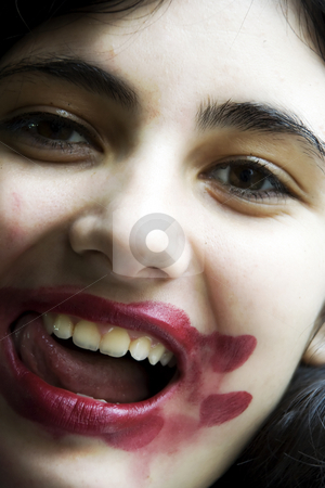lipstick stock photo, The nice girl is covered by lipstick by Aleksandr GAvrilov