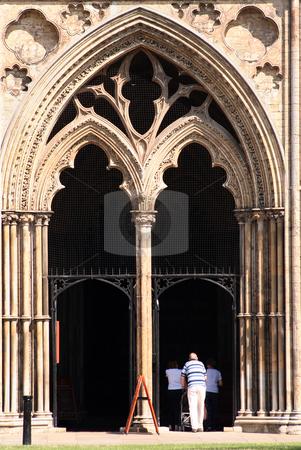 Ely Cathedral, Cambridgeshire, UK stock photo, Main entrance to Ely Cathedral, UK by Helen Shorey