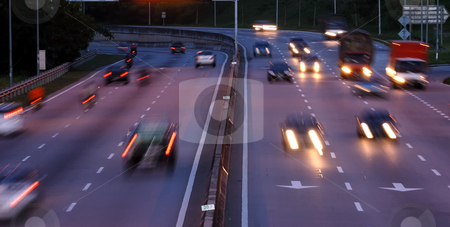 Busy Highway stock photo, Busy Highway by Jaggat Images