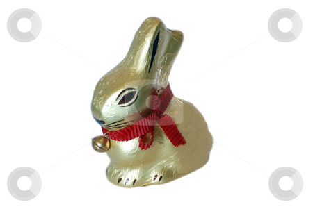 Easter rabbit  stock photo, A chocolate rabbit in package by Alexey Rumyantsev