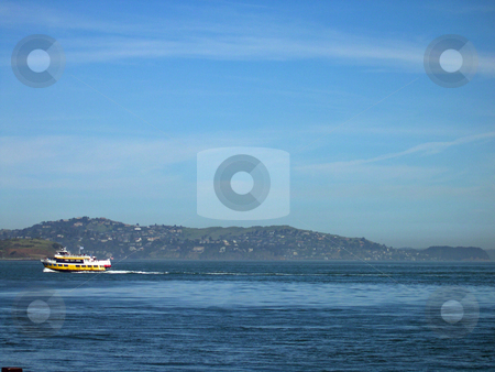 Ferry on San Francisco bay stock photo, Ferry on San Francisco bay by Jaime Pharr
