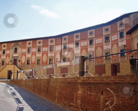 Building in Tuscany   stock photo, Curved building in Tuscany Italy by Jaime Pharr